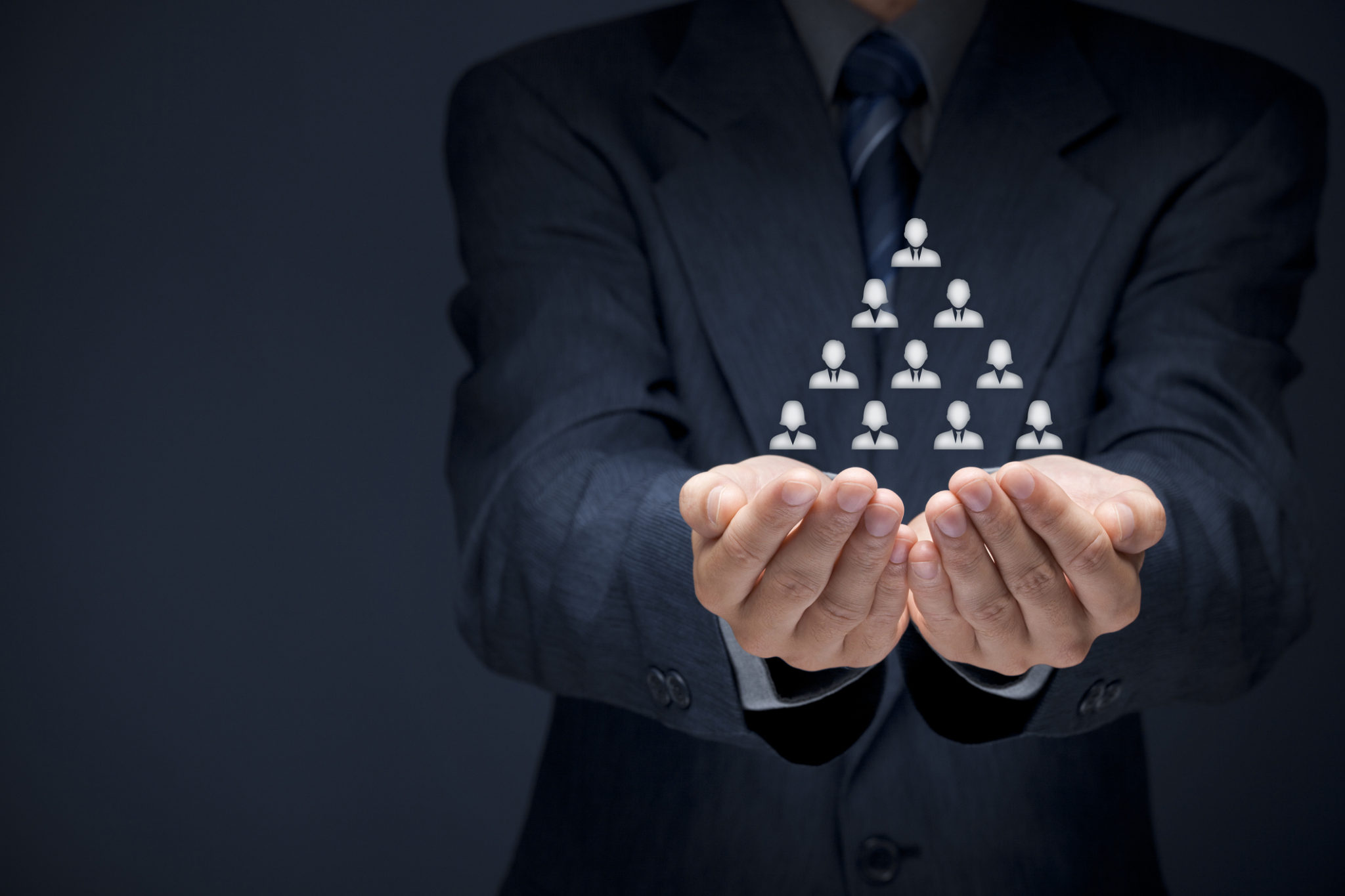human resources, corporate pyramid